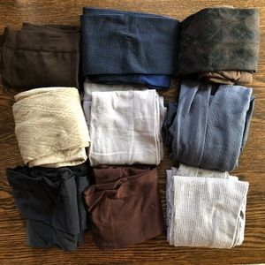 🌵 Lot of 9 Nylons in Neutral Tones